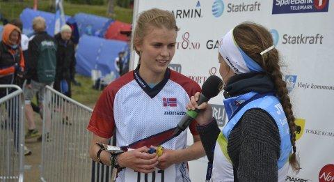 STERK TID: Marie Olaussen løp Borredalen Rundt på 21,42