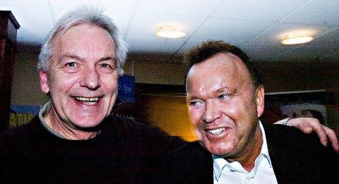 VENNER: Jan Fuglset (til venstre) sammen med sin gode kamerat Terje Høili.