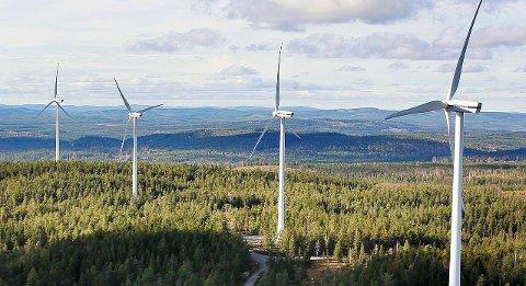 NYE EIER:  Vindkraftverket i Nord-Odal har fått en ny medeier som ser store muligheter. Bildet er fra Ludvika i Sverige.