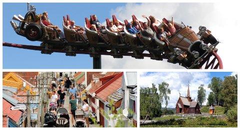 MOTORER: Hunderfossen Eventyrpark, Maihaugen og Lilleputthammer er viktig attraksjoner som trekker mange besøkende, som igjen gir overnattinger og handel i Lillehammer og omegn.