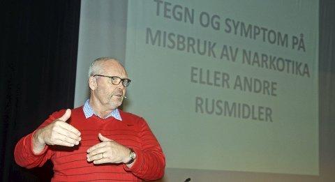 Ekspert: En engasjert Ole Vidar Øiseth fortalte om tegn og symptomer på bruk av narkotiske stoffer.