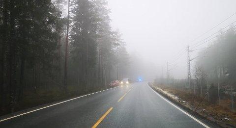 Ulykke på Kornsjøveien torsdag ettermiddag.