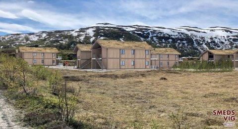 Leilegheitsbygg som liknar hytter: Maursetparken AS vil føre opp ti nye slike bygg med til saman 60 leilegheiter.