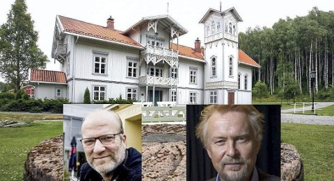 SPEL MED MARKED: Ingar Helge Gimle (t.v.) og Dennis Storhøi skal spille «To tårn» på Eidsverket 12. mai. I tillegg blir det stort marked på tunet.