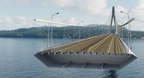 ALUMINIUM: Bildet viser tversnitt av en brokasse, og det kan være aktuelt å bygge denne i aluminium mellom Jektevik på Stord og Hodnaneset på Tysnes.