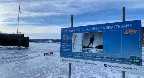 Mange har benyttet seg av skøyebanen i Vingesvika i vinter.