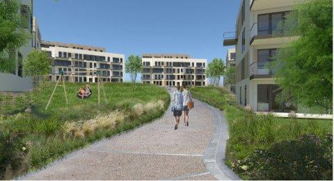 Miksen av leiligheter er foreløpig ikke klar, men vil tilpasses markedet. Foto: TAG-arkitekter
