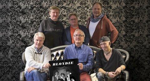 BLONDIE: Erik Olsen Bye, Trond S. Erlandsen, Øivind Ullenes, Kjell Aronsen, Jan Ove Nybø og Kjell Albin Grongstad spiller opp til dans på Sanden lørdag.