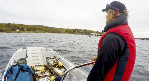 Sesongen er over: Snorkelløypene er tatt opp, dette bildet er fra Østre Bolæren. Den andre løypa har vært på Verdens Ende.