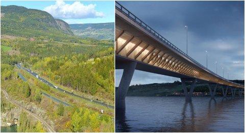 UTSATT: Nye Veier har avsluttet samarbeidet med de utenlandske entreprenørene som var valgt til å bygge ut to av de tre strekningene mellom Moelv og Øyer: Storhove-Øyer og Moelv- Roterud med ny bru over Mjøsa..
