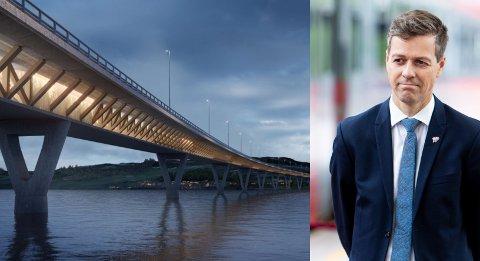 VERDIFULLT: Samferdselsminister Knut Arild Hareide svarer ikke på hva termineringen av mjøsbrukontrakten har kostet, men viser i stedet til at Nye Veier har fått tekniske rapporter og utarbeidet forslag til løsninger som vil ha høy verdi for det videre arbeidet.