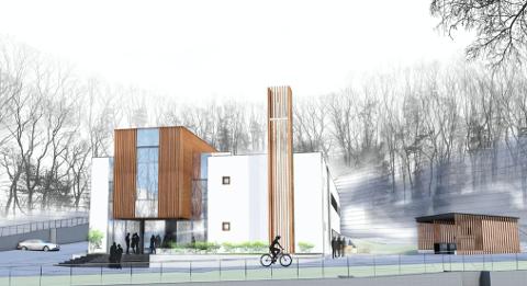 TÅRN: Den nye kirken vil få et tårn med religiøst preg.