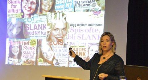 Feminisering: Marta Breen hadde med seg mange viktige budskap. Blant dem var medienes og reklamebransjens kroppsfiksering.