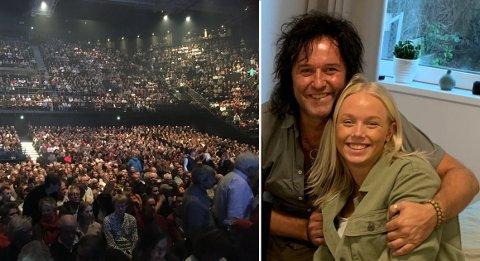 Oslo Spektrum fyller seg opp med publikummere som skal se Åge Sten Nilsen. Han skal fremføre en låt sammen med datteren Oda Helen Nilsen.