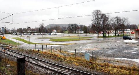 Parkeringsplassen på gamle Urædd stadion - Porsgrunn