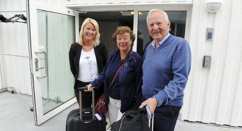 Spektakulært: Bilferierende Eva og Per Arne Haugedal syntes natta på hotellet til Britta Joø er verdt å skrive hjem om.