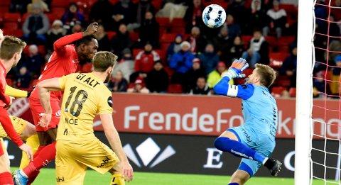 Daouda Bamba utlignet til 1-1 på Brann Stadion.