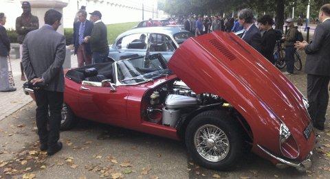 STIGER: Jaguars ikoniske E-type stiger og stiger i verdi.