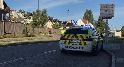 ULYKKE: Ulykken skjedde ved rundkjøringen Kaldnesgaten/Sundveien onsdag morgen.