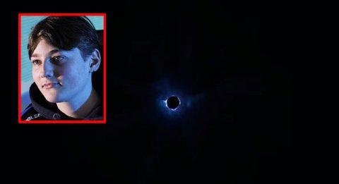 SORT HULL: – Jeg satt og så på skjermen i 1–2 timer og det eneste jeg kunne se var et sort hull, sier Emil August Bergquist Pedersen.