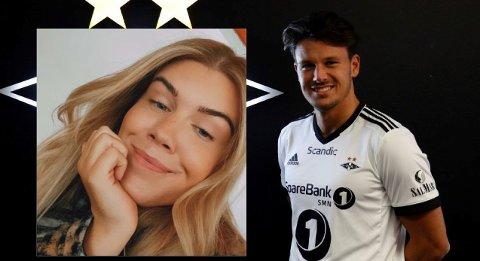 FANT HAN PÅ TINDER: Elisabeth Almhjell (innfelt) avslørte at RBKs nye spiller, Stefano Vecchia, var på trøndersk jord.
