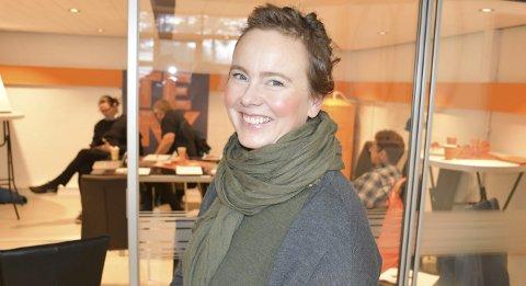 Spent på fremtiden: Siri Brodersen var med på foredraget til Innovasjon Norge på Tenk InnovasjonsLAB tirsdag. Foto: Anne Dehli