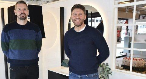 Godt samarbed: Tommy Tveit er hanket inn som daglig leder og Tore Vatne tar over famiiebedriften etter sin far og onkel. Foto: Anne Kristine Dehli