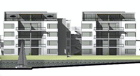 Nå skal RTO Eiendom bygge 16 leiligheter rett ved Songevann. Illustrasjon: Alpha Arkitekter