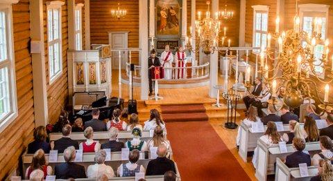 Konfirmasjon i kroer kirke i september 2018.
