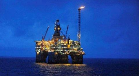 Heidrun-plattformen runder 20 år. Den har snart produsert en milliard fat olje. FOTO: HARALD PETTERSEN, STATOIL