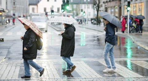 Det har vært vått i Bergen i år.