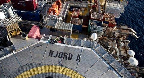 Statoil har vurdert både ombygging og å bygge en helt ny Njord-plattform. Nå virker det som selskapet har bestemt seg for ombygging. FOTO: ØYVIND NESVÅG, STATOIL