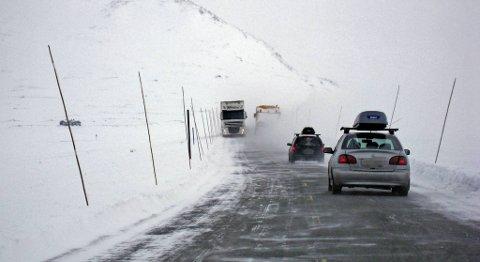 Denne veien bør velgast som aust-vest-samband i tillegg til E134 over Haukeli, meiner NHO. FOTO: BA