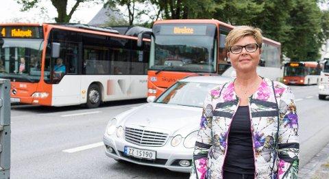 Fylkesordfører Anne Gine Hestetun i Hordaland kommer med et kontroversielt synspunkt i Bergen når hun støtter Hemsedal som vei nummer to mellom øst og vest. FOTO: MAGNE TURØY