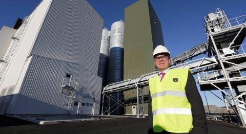 Ole-Eirik Lerøy blir hedret for sin rolle som styreleder i Marien Harvest. Her er han fotografert under åpningen av selskapets fôrfabrikk i Bjugn. FOTO: VIDAR RUUD, NTB SCANPIX