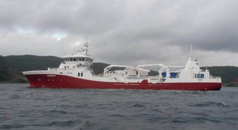 Brønnbåten «Namsos» ble levert fra Leirvik i desember i fjor. Nå skal søsterskipet bygges. FOTO: HAVYARD