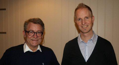 Tore Dale (t.v.) er ny næringssjef i Askøy kommune. Dag Folkestad fortsetter i jobben som kommunikasjonssjef. FOTO: ASKØY NÆRINGSLIVSFORENING