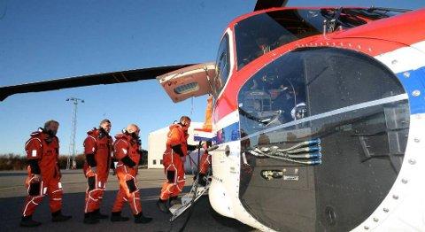 CHC Helikopter Service mista Nordsjø-flyginga fra Florø, men har no fått stadfesta at dei skal drive redningshelikopter-basen i kystbyen. FOTO: ARVE SOLBAKKEN, FIRDAPOSTEN