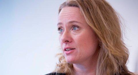Arbeidsminister Anniken Hauglie (H) lover å sette inn flere tiltak for å øke arbeidsdeltakelsen blant funksjonshemmede. FOTO: HÅKON MOSVOLD LARSEN, NTB SCANPIX
