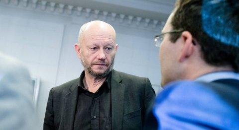 NHOs forhandlingsgeneral Stein Lier-Hansen kom med en ny advarsel om et svært magert lønnsoppgjør da han fredag møtte pressen i Oslo. FOTO: AUDUN BRAASTAD, NTB SCANPIX
