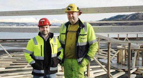 Eskild Røsand (til venstre) og Kolbjørn Mork seg for seg store muligheter med lukkede oppdrettsmerder i betong