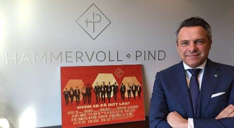 Partner Ivar Hillestad håper at Hammervoll Pind kan fremstå som et annerledes advokatselskap. På halvannet år har bergensdelen av selskapet vokst fra 7 til 25 ansatte. FOTO: SVEIN TORE HAVRE