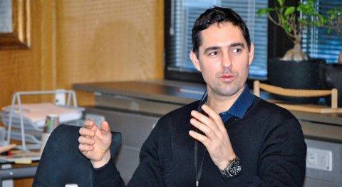 Vegard Frihammer, daglig leder i Greenstat AS, er godt fornøyd med fremdriften i den åpne emisjonen selskapet nå gjennomfører. FOTO: SVEIN TORE HAVRE