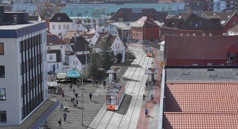 René Rønshoff vil at bybanen skal gå gjennom Sjøgaten, ikke i tunnel gjennom Sandviken.