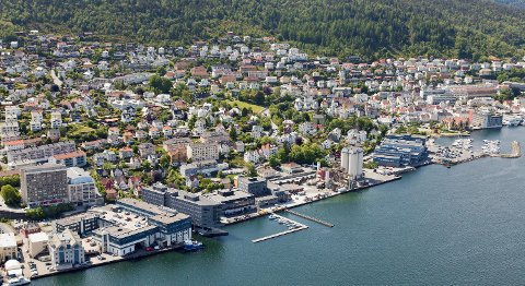 Bergen vest, som blant annet inkluderer Laksevåg, har hatt den svakeste prisutviklingen i Bergen hittil i år.