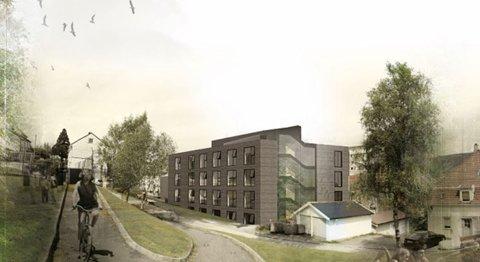 Frydenbø II skal bygges ved de eksisterende hyblene. Bygget blir av massivt tre.