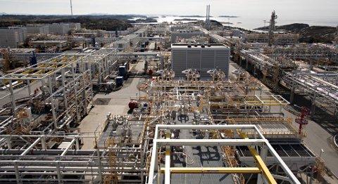 Equinor opplyser at cirka 40 prosent av all norsk gasseksport går via Kollsnes-anlegget.
