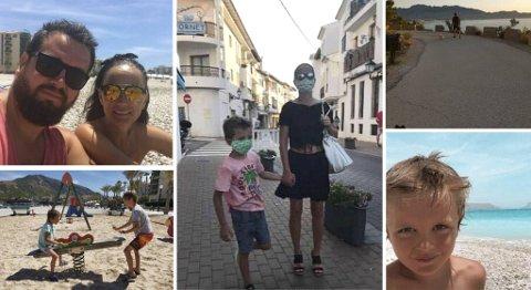 Sommer og sol i Spania, men også strenge smitteverntiltak for familien Daynes. De er oppgitt over at norske myndigheter ikke vil gjøre regional forskjell når de vurderer karantenekrav for Spania.
