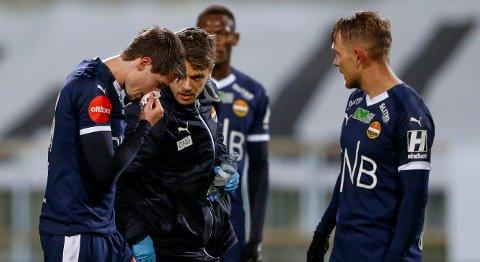 FRISKMELDT: Lars Vilsvik måtte gå av banen mot FKH i helga, men slapp heldigvis unna brudd.