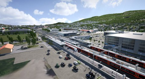 UTSETTES: Utbygging av Gulskogen stasjon utsettes på ubestemt tid.
